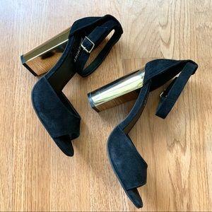 Black and gold heels Shoemint